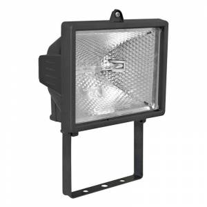 Pferdekaemper Pivotable 400W outdoor spotlight POWER II, black