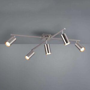Trio Lighting Marley ceiling spotlight, matt black, 5-bulb