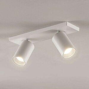 Lampenwelt.com Brinja spotlight, GU10, white, 2-bulb