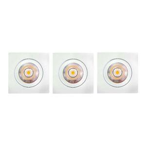ELC Juno recessed spotlight set of 3 white angular