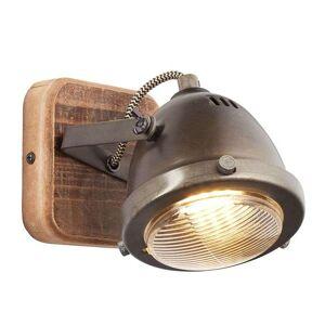 Brilliant Adjustable wall spotlight Carmen Wood