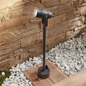 Lampenwelt.com Galina outdoor spotlight, dark grey 55.5 cm