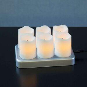 Best Season Rechargeable LED tea light Chargeme, set of 6