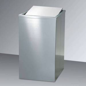 Decor Walther AYA angular laundry basket, matt stainless steel