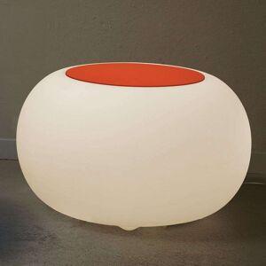 Moree Bubble LED BATTERY Outdoor Table orange felt cover