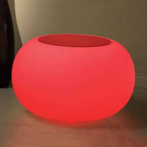 Moree Bubble LED BATTERY Outdoor Table - red felt cover