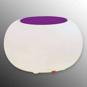 Moree Bubble LED BATTERY Outdoor Table violet felt cover