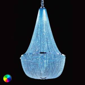 Masiero Ilaria magnificent basket chandelier with RGB LED