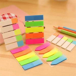 PET Memo Pad Sticky Paper Creative Fluorescent Adhesive Note For Kids School Supplies Korean Stationery