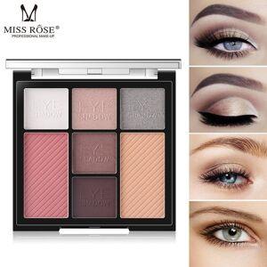 MISS ROSE Long-Lasting 7 Colors Matte Shimmer Nude Natural Eyeshadow Palette Makeup Powder
