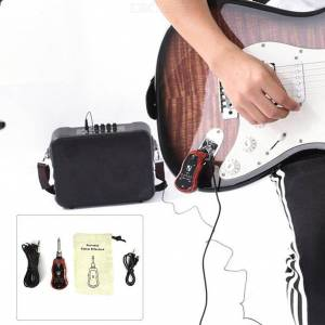 B6 Portable Electric Guitar Amplifier Amp Set Chorus/Border/Overload/Wah Effect for Electric Guitar Bass