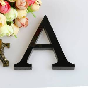 letters Acrylic letters26 Letters DIY 3D Mirror Acrylic Wall Sticker Decals Home Decor Wall Art Mural free delivery D5
