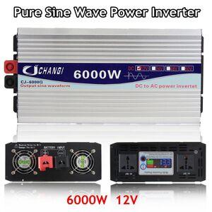 Pure Car Inverter Intelligent Solar Pure Sine Wave Inverter 12V/24V To 110V 4000/5000W/6000W Power Converter Digital Display for Home