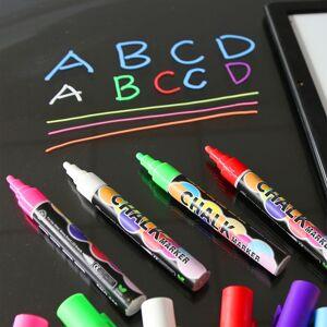 30^Markers Chalkboard Erasable Dustless Water Based Liquid Wet Erase Pen 6mm 2ML home Accessories tools