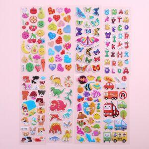 5pcs different 3D cute cartoon animal stationery stickers Pegatinas funny kids phone laptop gift on scrapbook handmade sticker