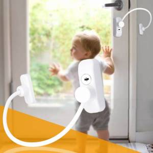 Window Door Restrictor Baby Safety Security Cable Lock Door Safety Restrict Child Room Window And Door Security Restrictor