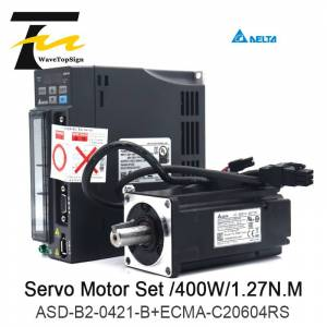DELTA Delta AC servo 400W B2 0.4KW 1.27NM 3000rpm 60MM ASD-B2-0421-B ECMA-C20604RS motor drive kit with 3m Cable