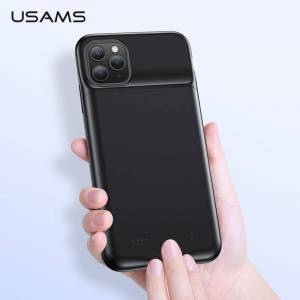 USAMS Battery Charger Case for iPhone 11 Pro Max X XS 3500/4500mAh Charging Power Bank Case Slim External Backup charger case