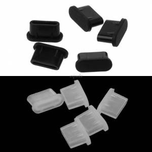 5PCS Type-C Dust Plug USB Charging Port Protector Silicone Cover for Samsung Huawei Smart Phone Accessories Drop Ship