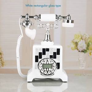 Button Dial Corded Phone Telephone with FSK and DTMF, Caller ID, Backlight Speakerphone, Electronic Ringtone for Home Office