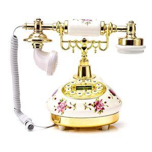 Gold Retro Telephone Europe America Telephone Landline Turntable Telephone Button Dial - Up Hotel Phone