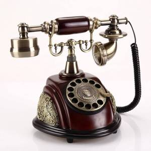 Vintage Corded Phone Landline Old Fashioned Rotary Dial Telephone with Redial, Handsfree, Retro Ringtones for Home Office