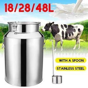 18/28/48L Stainless Steel Barrel Seal Beer Brewing Wine Beer Whiskey Rum Barrel Port container Storage Oil Milk Rice Barrel