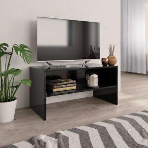 vidaXL TV Cabinet High Gloss Black 80x40x40 cm Chipboard