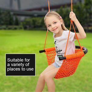 150KG Maximum load Safer Children's Swings Indoor Outdoor Patio Swings Toys Hand braid Rope Net Garden swings for kids Adult