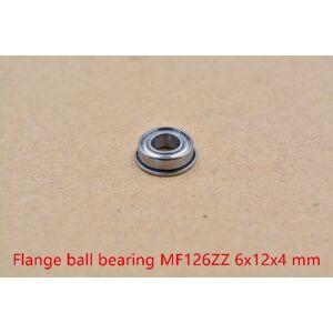 6mm bearing MF126ZZ 6mmx12mmx4mm MF126ZZ miniature flange deep groove ball radial ball bearing 1pcs