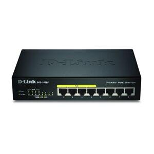 D-Link DGS-1008P 8-Port Gigabit PoE Unmanaged Desktop Switch