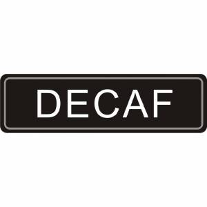 Olympia Adhesive Airpot Label - Decaf