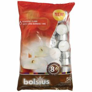 Bolsius 8 Hour Tealights (Pack of 50)