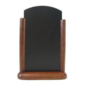 Securit Pillared Table Top Blackboard 285 x 200mm Mahogany