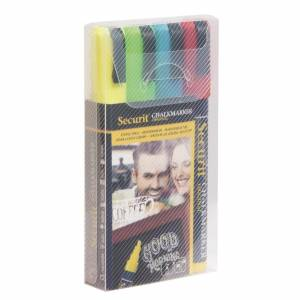 Securit Chalk Markers Coloured (Pack of 4)