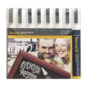 Securit 6mm Liquid Chalk Pens White (Pack of 8)