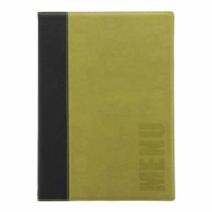 Securit Contemporary Menu Cover Green A4