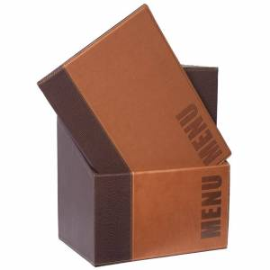 Securit Contemporary Menu Covers and Storage Box A4 Tan (Pack of 20)