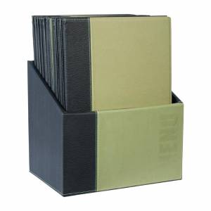 Securit Contemporary Menu Covers and Storage Box A4 Green (Pack of 20)