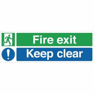 Nisbets Fire Exit Keep Clear Sign