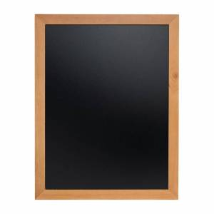 Securit Wall Mounted Blackboard 900x700mm Teak