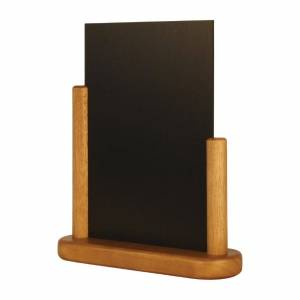 Securit Half Frame Table Top Blackboard 280 x 200mm Teak