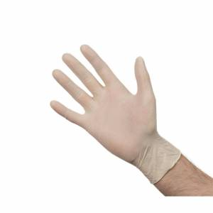 Nisbets Powder-Free Latex Gloves M (Pack of 100) Size: M