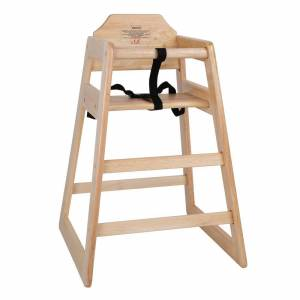 Bolero Wooden Highchair Natural Finish