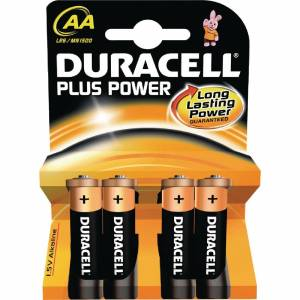 Duracell AA Batteries (Pack of 4)