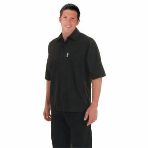 Chef Works Unisex Cool Vent Chefs Shirt Black S Size: S