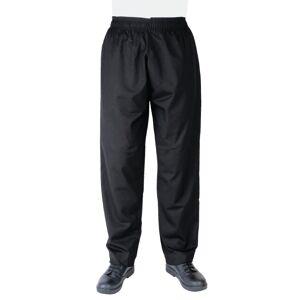 Whites Chefs Clothing Whites Vegas Chef Trousers Polycotton Black - S Size: S