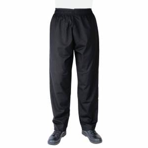 Whites Chefs Clothing Whites Vegas Chef Trousers Polycotton Black - S Size: S