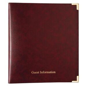 Nisbets Burgundy Guest Information Folder