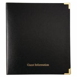 Nisbets Black Guest Information Folder